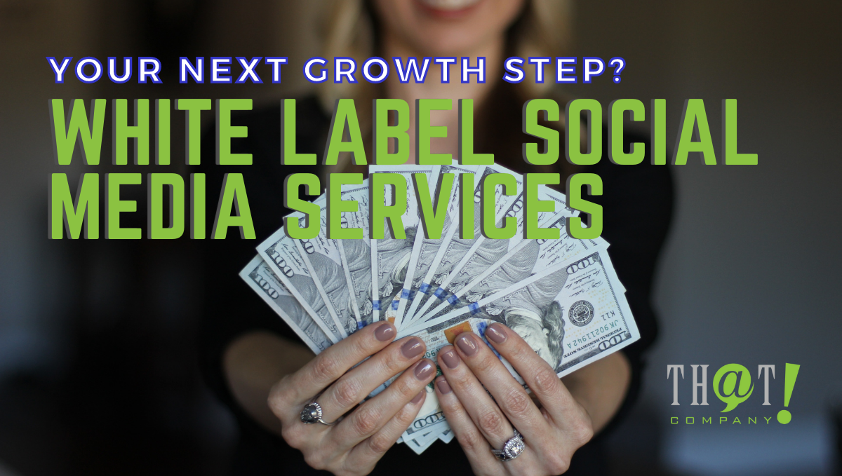 White Label Social Media Services   A Girl Holding A Money