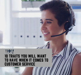 Traits For Customer Service | A Girl In Front of A Pc With A Headset