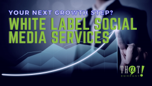 White Label SMM   A Man Pointing At The End Of A Hologram Line Chart