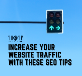 Increase Your Website Traffic | A Street Light In Green Light For Arrow Pointing Up and Right With Blue Sky in the Background