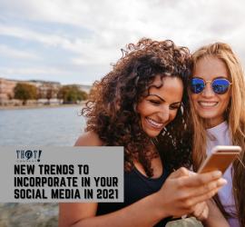 Social Media Trends | 2 Girls Brightly Smiling While Looking At Their Phone