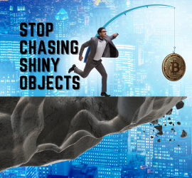 Stop Chasing Shiny Objects | A Man Chasing A Big Coin Not Knowing It will Lead Him To A Cliff