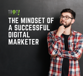 The Mindset of a Successful Digital Marketer | A Boy Holding His Chin and Looks Like Thinking