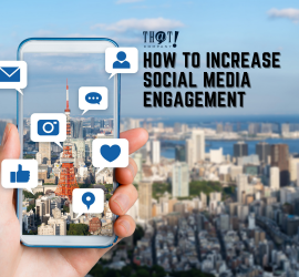 Increase Social Media Engagement | A Phone on Camera Mode Capturing A Nice View of The City With The Icon of Different Social Media
