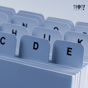 Indexing | An indexed Folder By Letter