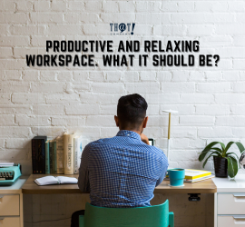 Productive and Relaxing Workspace | a Man Sitting In His Workstation