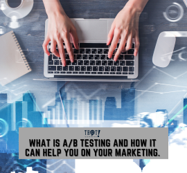 A/B Testing and Marketing | A Hand Typing In a Laptop