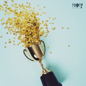 Contest and Giveaways | A Trophy With A Tiny Gold Star Confetti