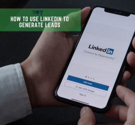 LinkedIn To Generate Leads | A Hand Holding A Phone Showing A LinkedIn App