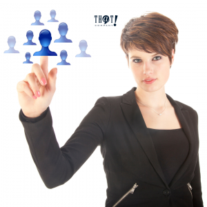 Finding Your Target Audience | A Girl Pointing at an Icon of a Person