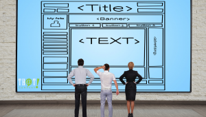How to Create SEO Page Title Text   People staring at Title Banners